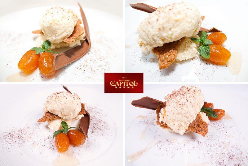 Ресторант Капитол Варна Десерти и сладки продуктова фотография Светослав Иванов