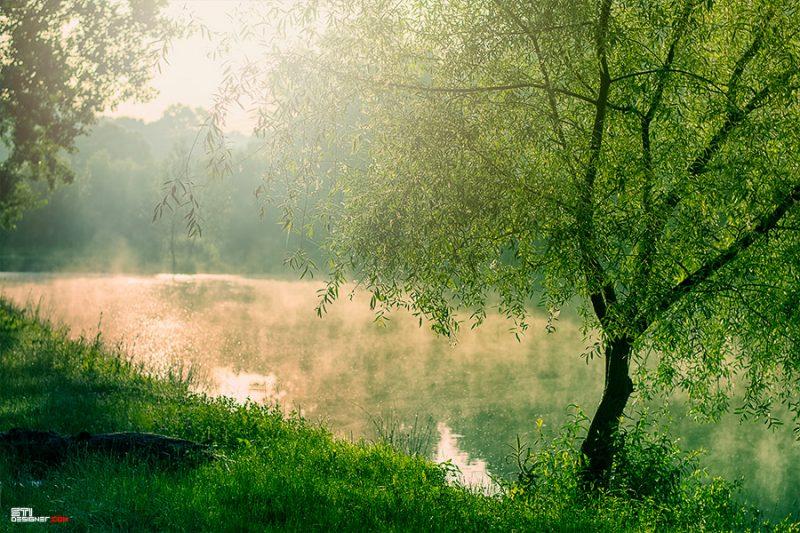 Рибарско утро над микроязовир в местност край Варна - цветна фотография Светослав Иванов