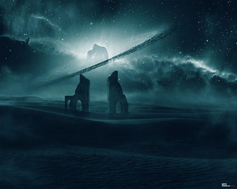 Отвъдното / Южната порта/ концептуална арт фотография мат пейнтинг Светослав Иванов