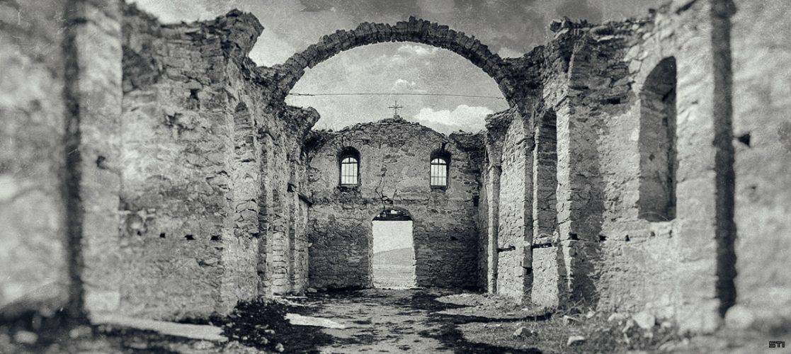 Черно бяла ретуширана фотография