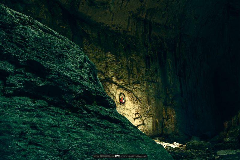Иконата разположена срещу очите в пещера Проходна